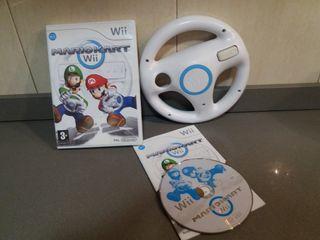 Pack juego Mario Kart y volante para Nintendo Wii