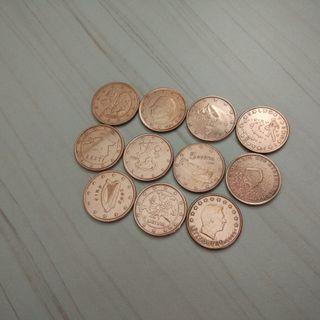 Monedas de 5 céntimos de euro