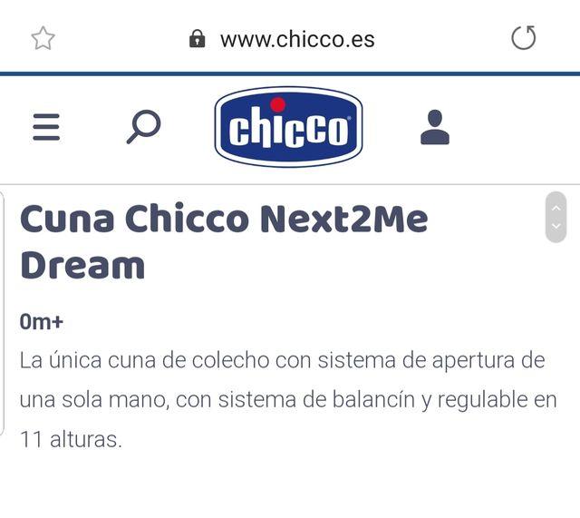Cuna CHICCO NEXT2ME DREAM