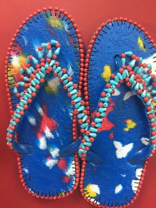 Sandales artisanales fait mains