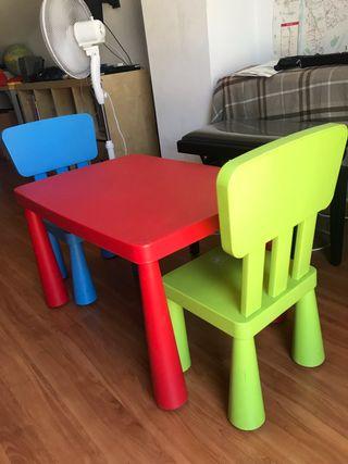 Mesa con dos sillas ikea