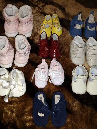 10 pares zapatos niña, tallas 16/17/18/19