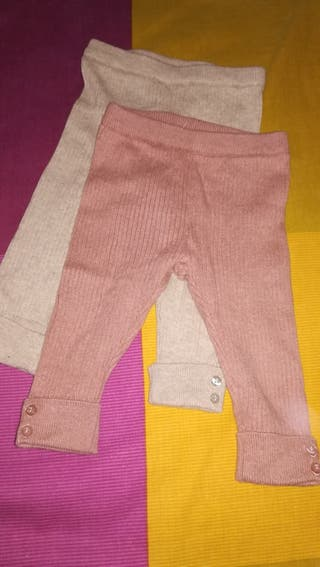 2 Pantalones punto + 2 blusas + conjunto
