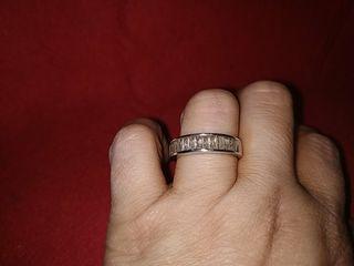 anillo vintage plata y circonitas