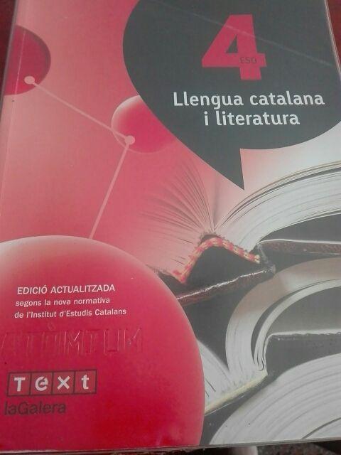 Llengua Catalana i literatura 4° ESO