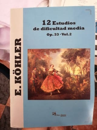 libro flauta travesera 12 estudios dificultad medi