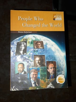 """Libro """"People who changed the world"""""""