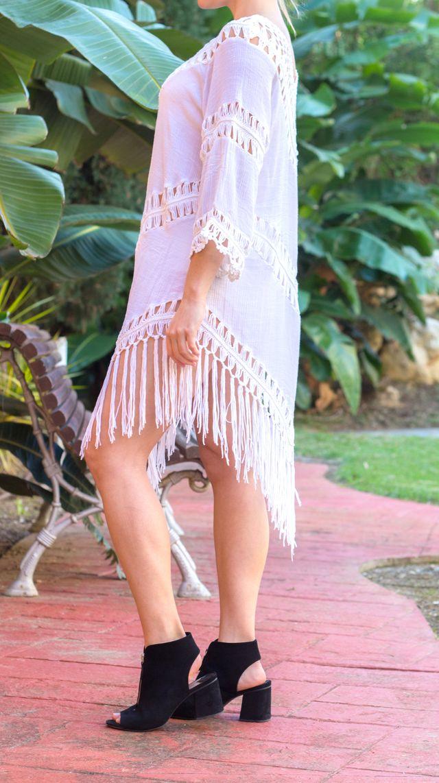 Vestido mujer blanco playa nuevo