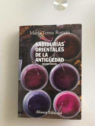 LIBRO SABIDURÍAS ORIENTALES DE LA ANTIGUE