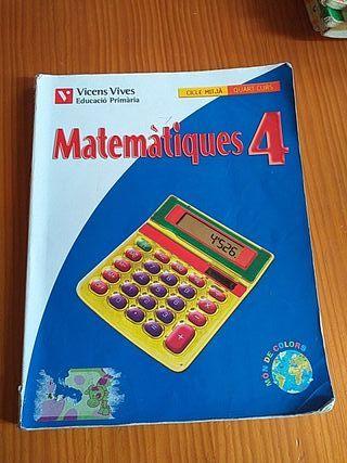 Libro de matemáticas de cuarto de primaria