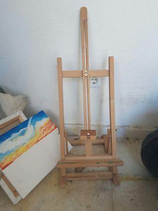 caballete de pintura de mesa.