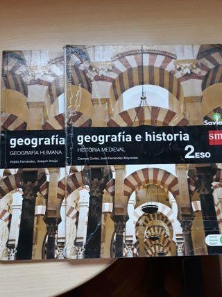 geografía e historia medieval y humana 2 sm savia