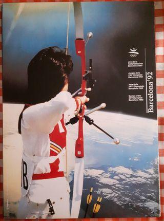 Poster Olimpiadas Barcelona 92, tiro al arco