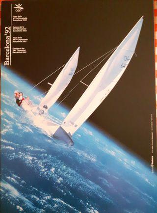 Poster Olimpiadas Barcelona 92 Vela