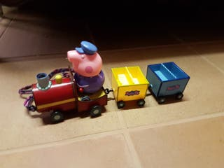 Tren peppa pig + peluche peppa