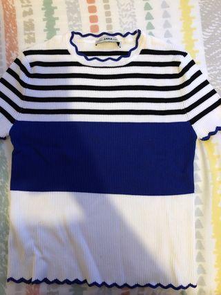 Camiseta rayas Zara S