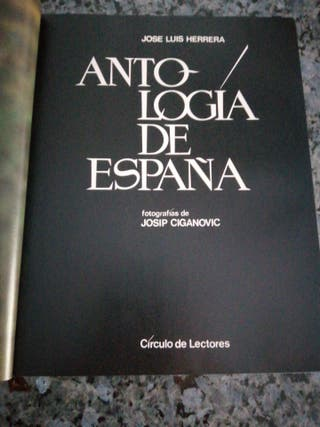 """LIBRO """"ANTOLOGÍA DE ESPAÑA"""""""