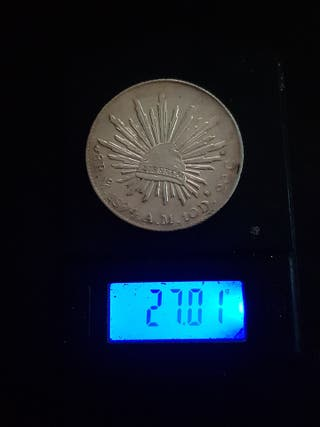 moneda de 8 reales mexicanos plata