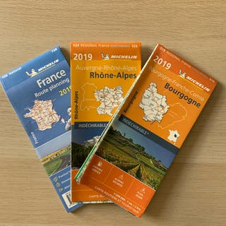 Michelin 2019 France travel map set
