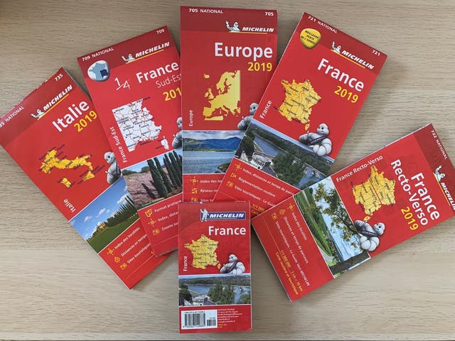 Michelin 2019 travel map set France,Europe,Italy