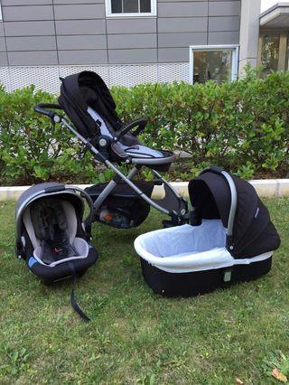 Carro bebe PlayExtreme grupo 0, capazo y silla