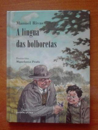Libro A lingua das bolboretas. Editorial Galaxia.