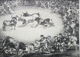 Lote de 4 láminas de los Toros de Burdeos por Goya
