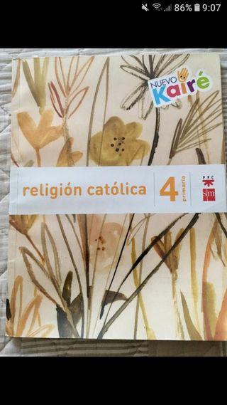 libro de religión de 4°