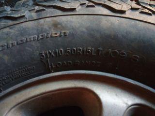 4 Ruedas BFGoodrich con llanta de aluminio