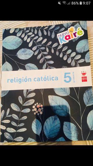 libro de religión de 5°