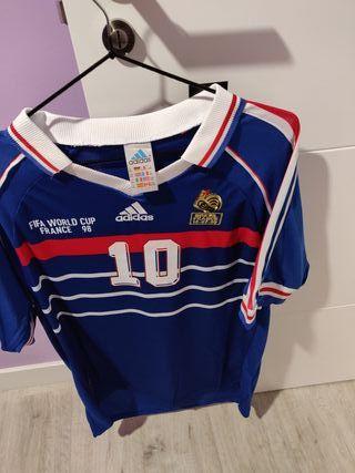 camiseta Francia Zidane mundial 98