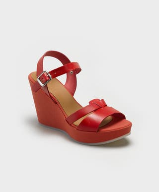 sandalia roja talla 38