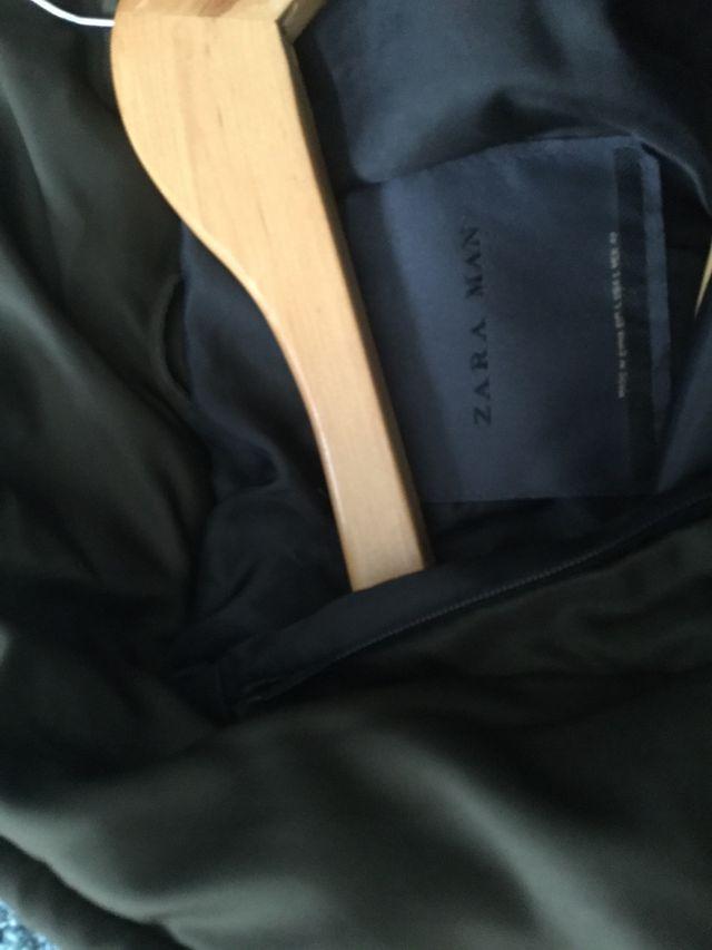 Chaqueta bomber Zara (verde oscuro) talla L