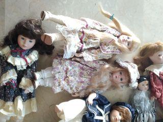 lote muñecas de porcelana