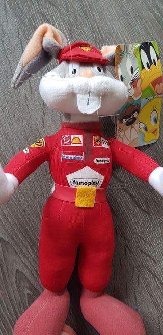 Muñeco de Bugs Bunny Fórmula 1