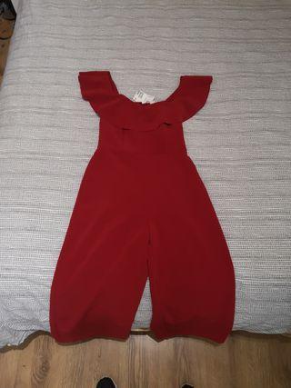 red jumpsuit h&m