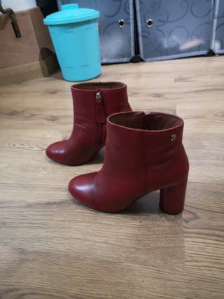 gios eppo. red high heels boots