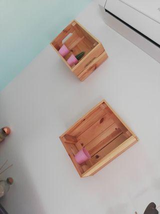 cajas fruta estantería juego 2