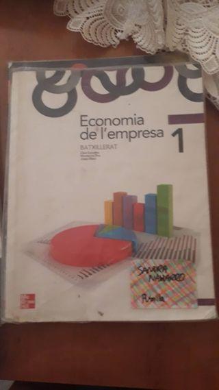libro economía de empresa 1ro bachillerato