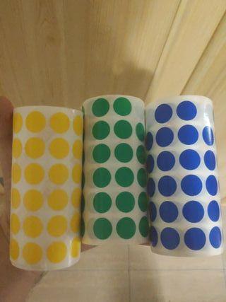 Pegatinas de colores