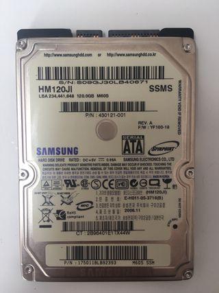Disco duro 320GB y 120Gb de Samsung