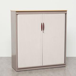Armario Medio Blanco Metálico Puertas Persiana