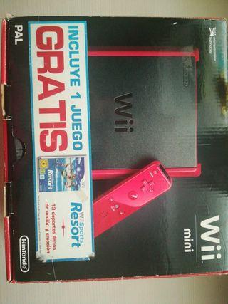 Caja Wii mini con instruciones