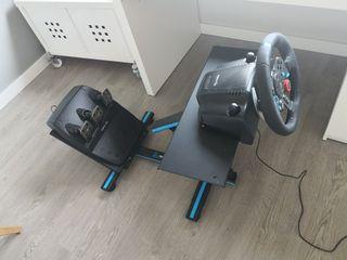 Volante/pedales F1 Logitech G29 y soporte Newskill