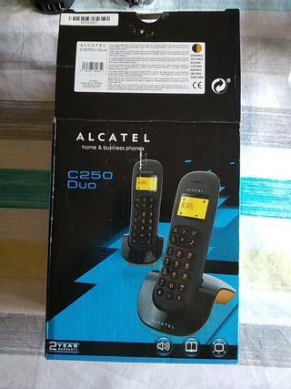 Teléfonos inalámbrico Alcatel c250 duo
