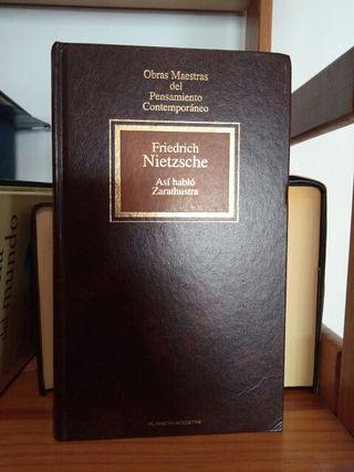 Libro Así habló Zarathustra de Friedrich Nietzche