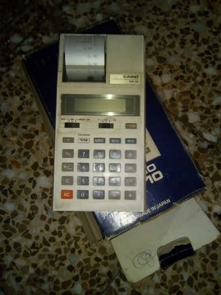 Calculadora, registradora marca Casio HR. 10
