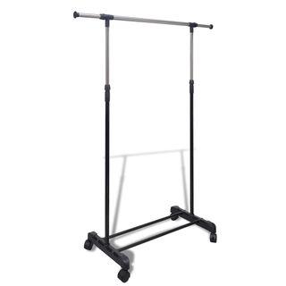 vidaXL Perchero ajustable para ropa 4 ruedas 50259