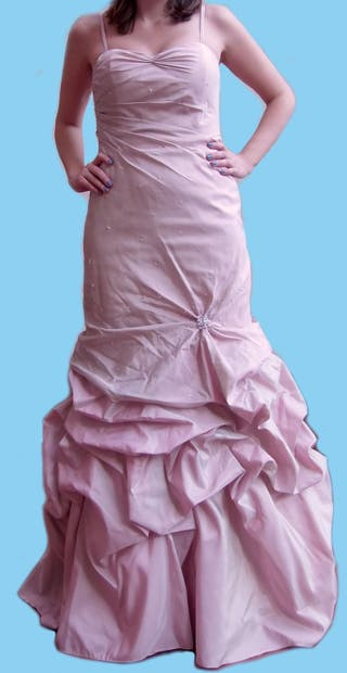 Vestido ceremonia rosa palo (boda)