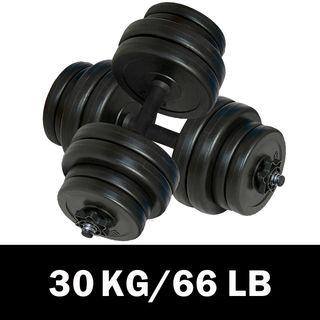 vidaXL Juego de mancuernas 2x15 kg 90267